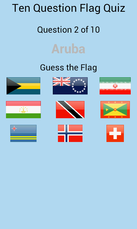 Android Game App - Flags Puzzle