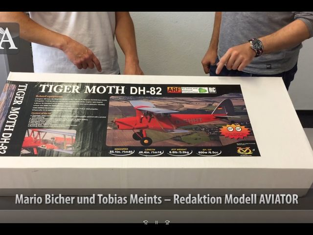 Unboxing-Video zur Tiger Moth von Pichler Modellbau