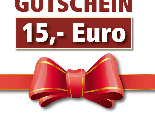 15-Euro-Gutschein: heute letzte Chance