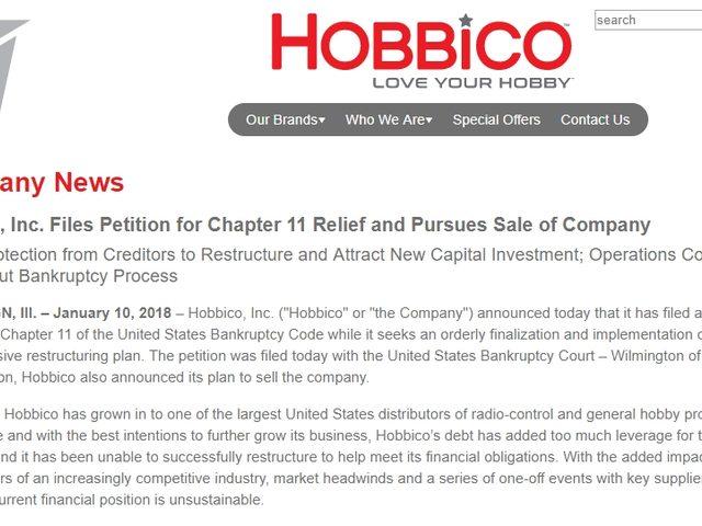 Hobbico stellt Insolvenzantrag