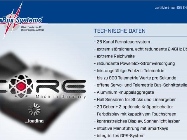 PowerBox Systems mit neuem RC-Fernsteuersystem