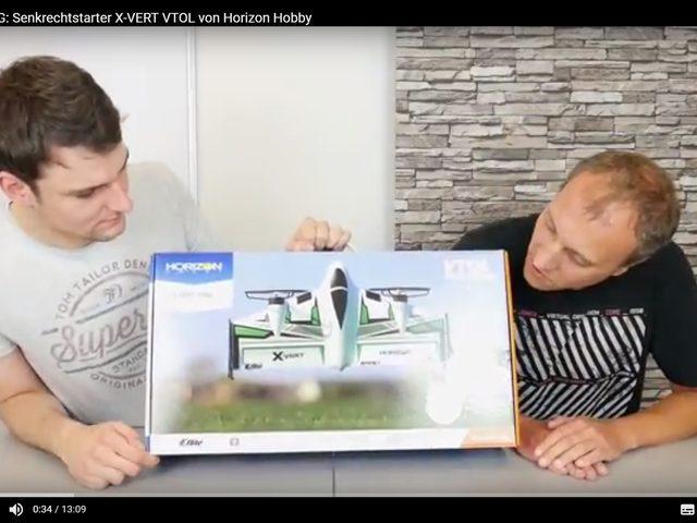 Unboxing-Video zum X-Vert VTOL von Horizon Hobby – jetzt ansehen