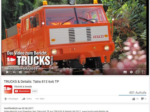 Der Tatra 813 im Video