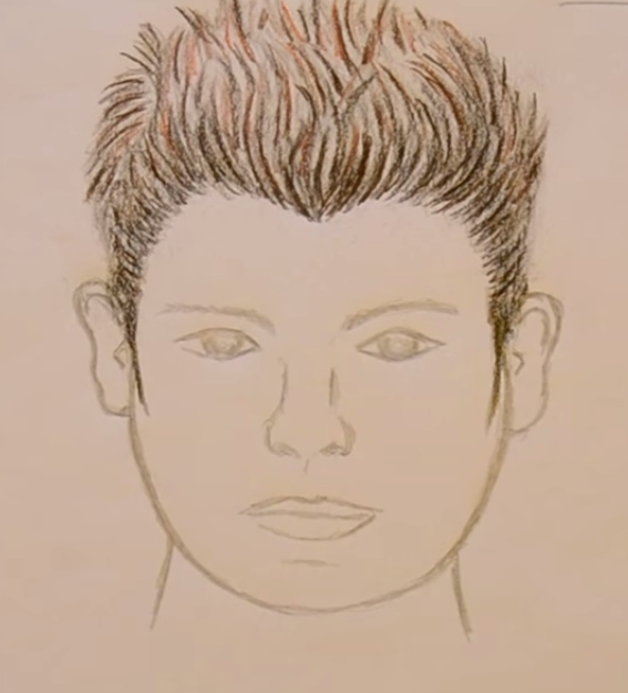 peinado hacia arriba