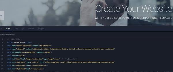 Novi Builder Code Editor