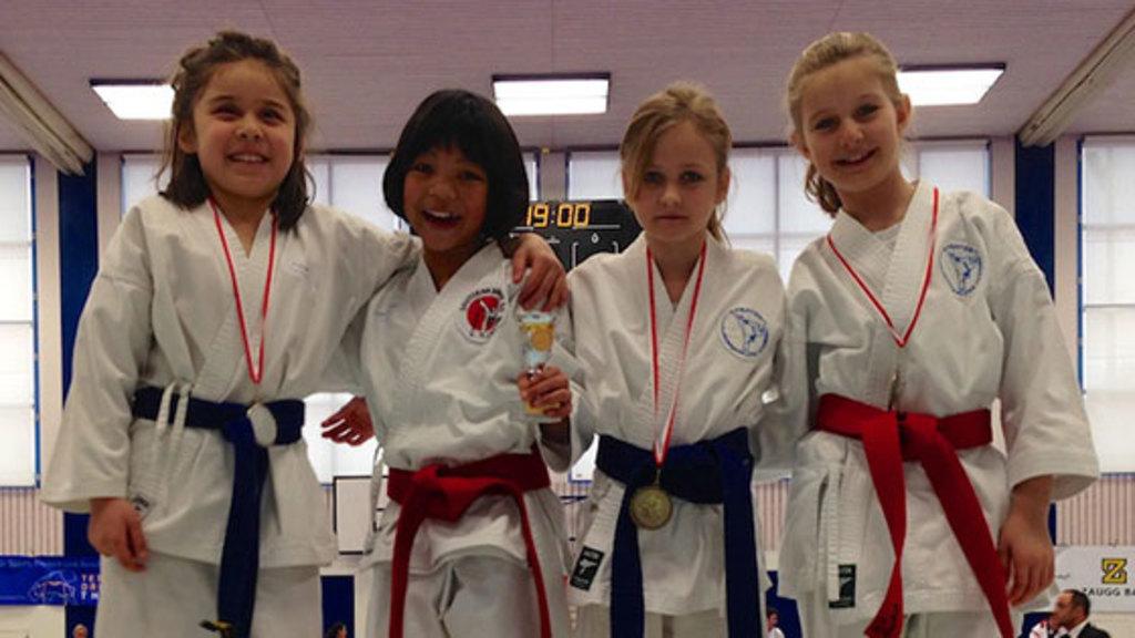 Junior karate league winner