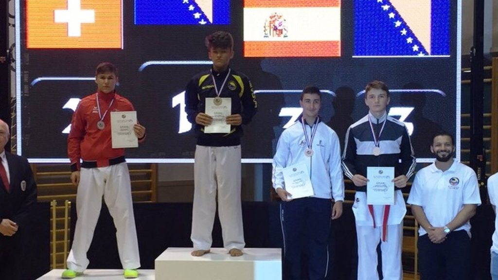 Silbermedaille f%c3%bcr kevin wagner am karate 1 wkf youth cup in umag
