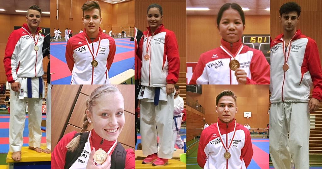 9 medaillen fur das budo sport center  am swiss karate league in neuenburg