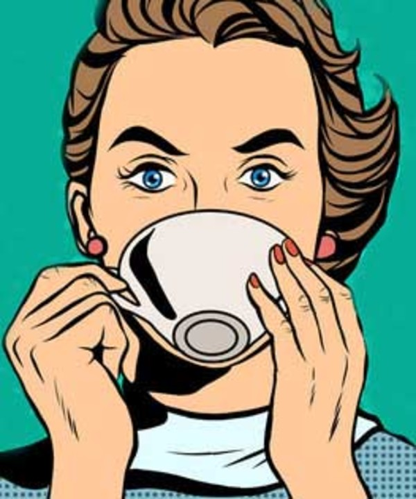 kaffekvinnan