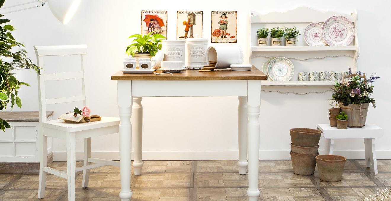 Mensole In Legno Per Cucina. Cucina Shabby Isola Tavolo Precious ...