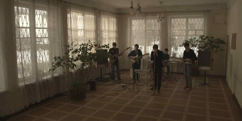 A still from Ausgeträumt by Deimantas Narkevicious, which aims to tap into the youth and naivety of a newly formed Lithuanian band