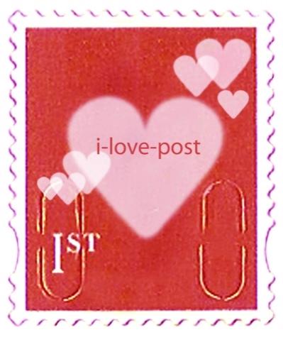 I-love-post post stamp
