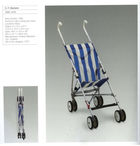 Owen Maclaren's 1966 stripy folding pushchair