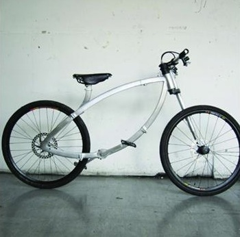 A folding bicycle by Dominic Hargreaves, who was also a Design Week Rising Star