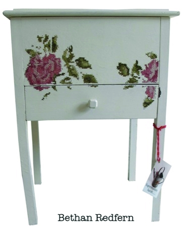 Bethan Redfern's embroidered furniture