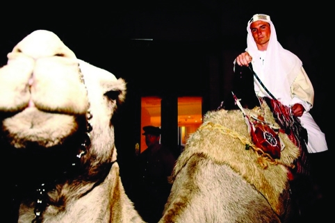 A member of the Arab Council and his ride