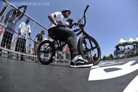 BMX videographer Matty Lambert captures BMX rider Mark Webb on film