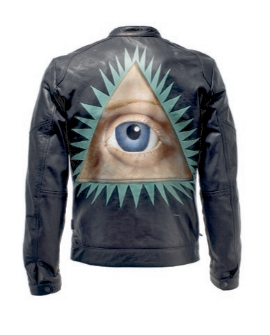 Musician Walter Steding worked as Warhol's painting assistant and had his music career managed by the artist, contributes an all seeing eye in a Masonic pyramid.