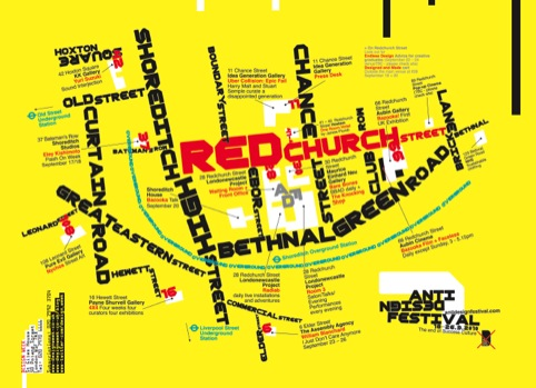 The Anti Design Festival map