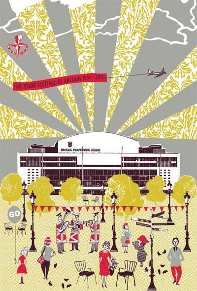 Lizzie Allen has created a limited-edition print for the Southbank Centre to mark the 60-year anniversary of the Festival of Britain.