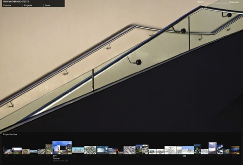 Kent Lyons won the Digital Design - Commercial category with a website for Rick Mather Architects
