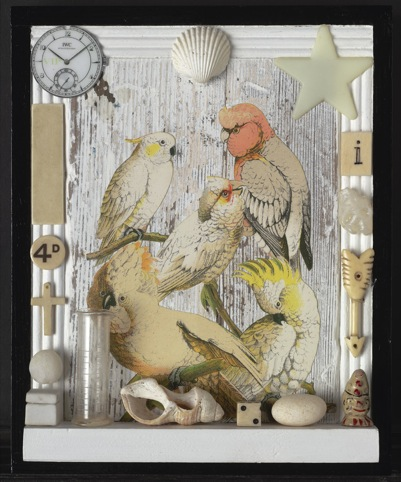 Birds, 2010, collage with found objects (c) Peter Blake