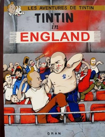 Tintin in England by Dran
