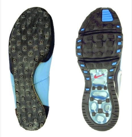 Nike Oregon Waffle and Air Max 360 II shoes.
