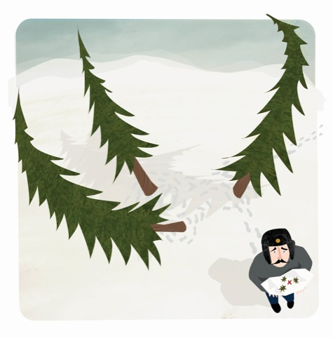 To get lost in three pine trees (Russian), meaning to be one sandwich short of a picnic