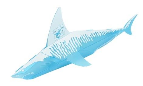 A polypropylene shark for The Shark Trust