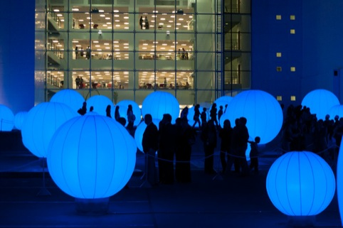 The bespoke orbs glow
