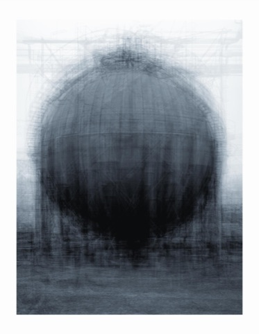 Idris Khan every...Bernd and Hilla Becher Spherical Type Gasholder