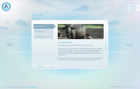 Rehab Studios' website for Tetrapak