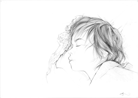 Boy asleep by Jessica Albarn