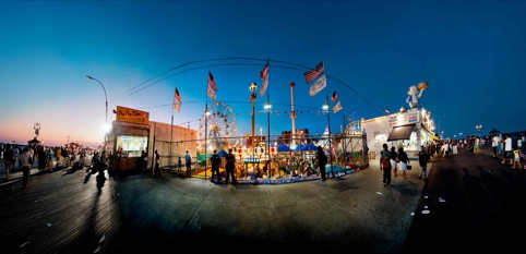 Coney Island at Dusk by Andrew Brooks