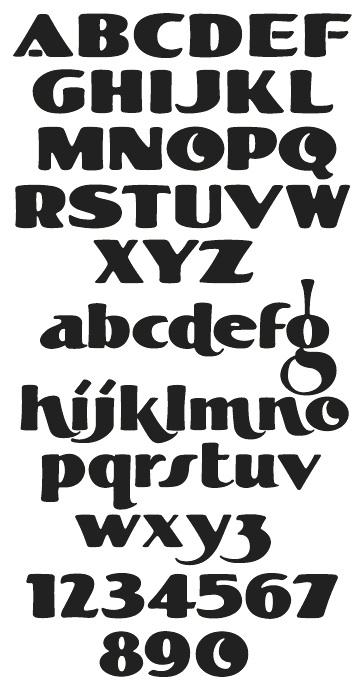 LHF Fat Cat by Chuck Davis for Letterhead Fonts