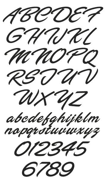LHF Flash Script by Arthur Vanson for Letterhead Fonts
