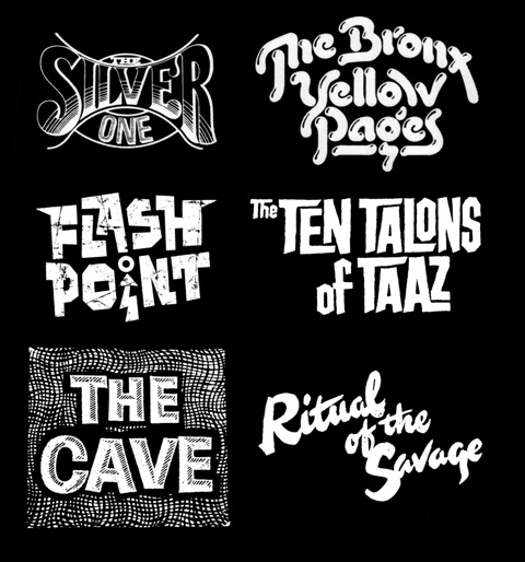 From the book Custom Lettering of the '60s and '70s by Rian Hughes