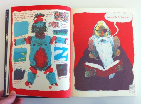 Spreads by Mikkel Sommers, from Nowbrow's A Graphic Cosmogony