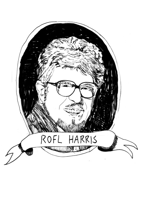 Rolf Harris - can you tell what it is yet? A lustrous beard, that's what.