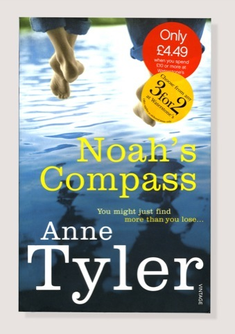 The cover of Noah's Comapass by Anne Tyler. Image by Terry Vine