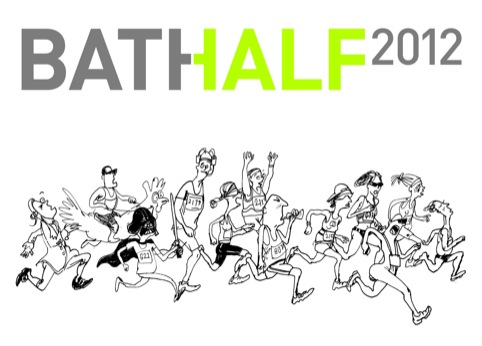 The 2012 Bath Half Marathon, with illustrations by Simon Spilsbury