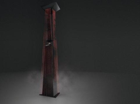 Moritz Waldemeyer design for the installation