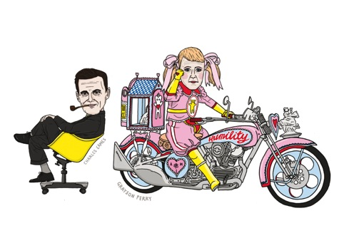 Charles Eames and Grayson Perry by Matt Blease