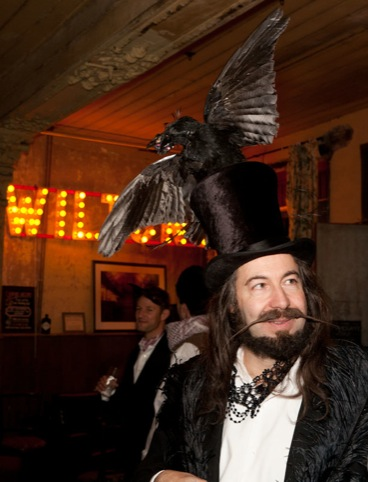 A crow top hat