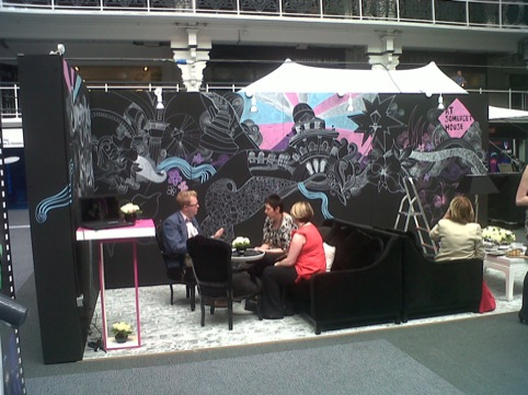 The Somerset House Stall in progress