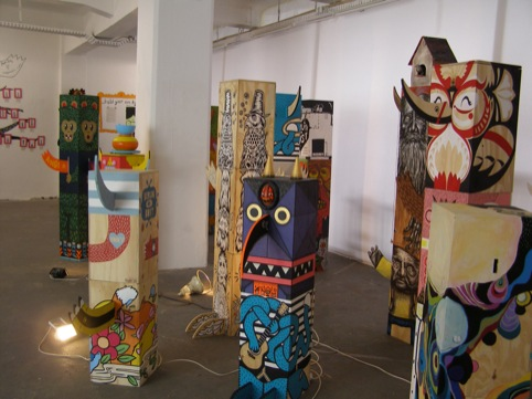 The Inkygoodness totem exhibition