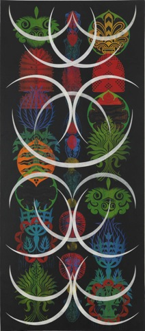 Crescent Totem by Philip Taaffe