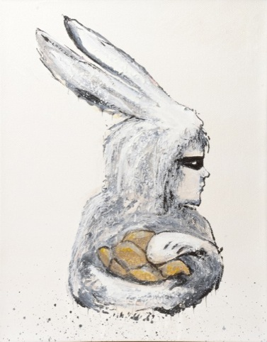 Paul Insect's hare-inspired canvas