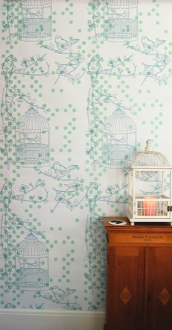 Contemporary Lab,  Dotty Bird wallpaper